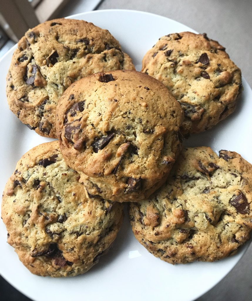 cookies veganas con chips de chocolate